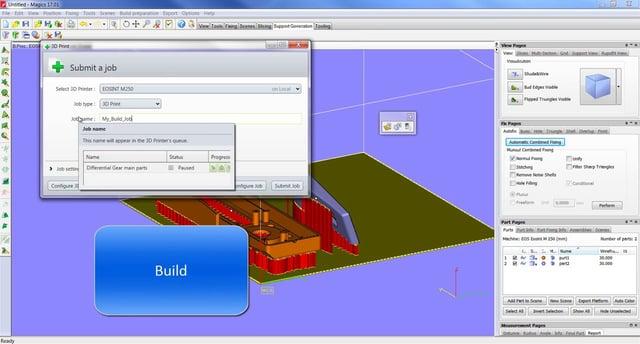 Materialise Build Processor in Chinese 3D metaalprinter