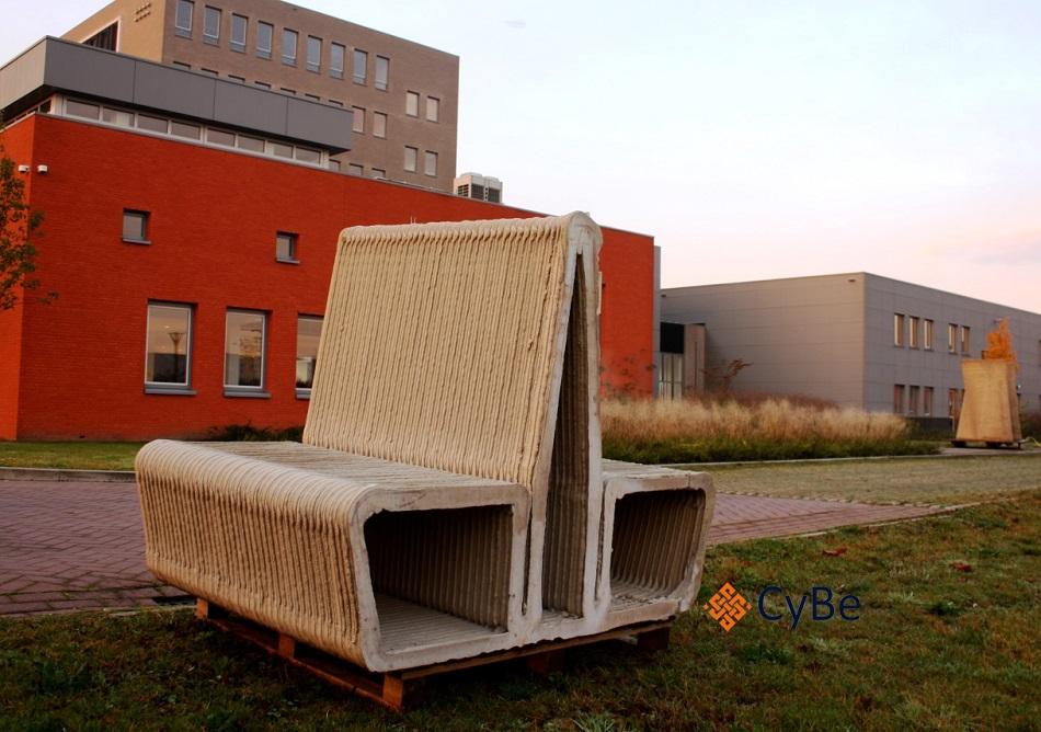 CyBe 3D print belastbaar beton