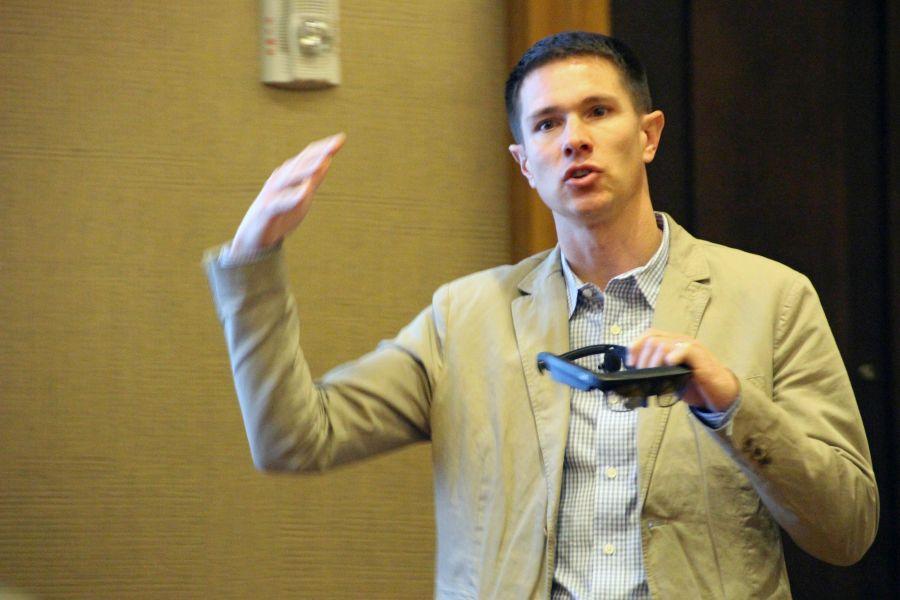 Chris White van ODG verwacht dit jaar de doorbraak van de smart glasses zodra het draagcomfort sterk verbeterd is.
