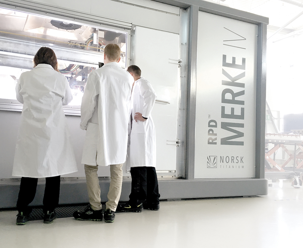 Norsk Titanium toont Merke IV Rapid Plasma Deposition op Farnborough