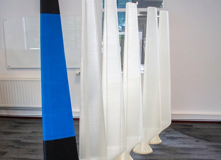 Leapfrog Xcel 3D print 230cm hoge windmolenbladen