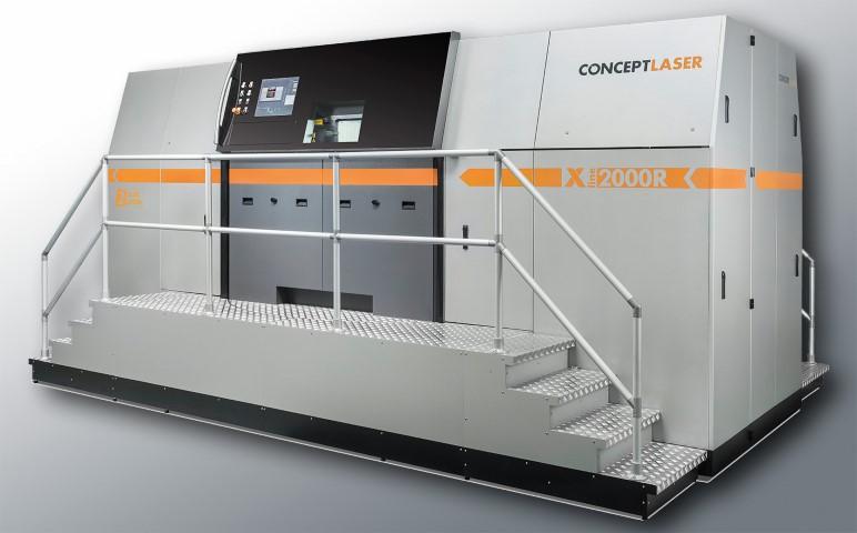 MKB kan in Aken super groot metaalprinten op Concept Laser XLine 2000R