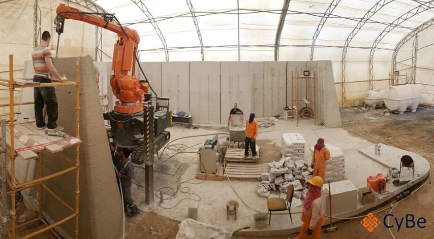 Cybe Construction 3D print in 3 weken gebouw in Dubai