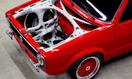 3D geprint voorframe VW Caddy voorbeeld functie-integratie