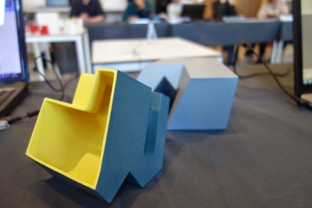 Enkele voorbeelden van de modellen die de studenten hebben ontwerpen en geprint.