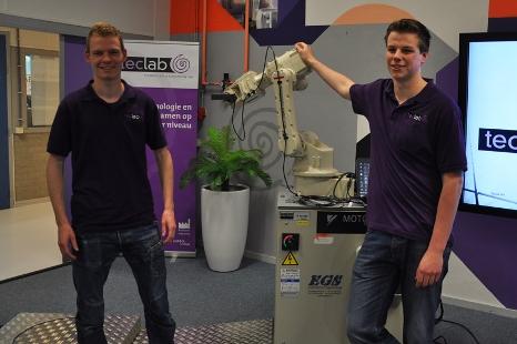 Eindhovense studenten bouwen 3D scanrobot