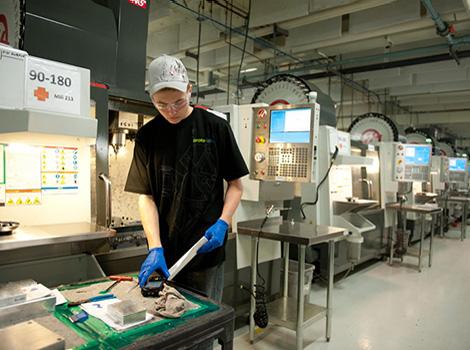 Proto Labs biedt naast CNC verspanen en spuitgieten ook additive manufacturing aan. Deze activiteit groeit het snelst. (Foto: Proto Labs)