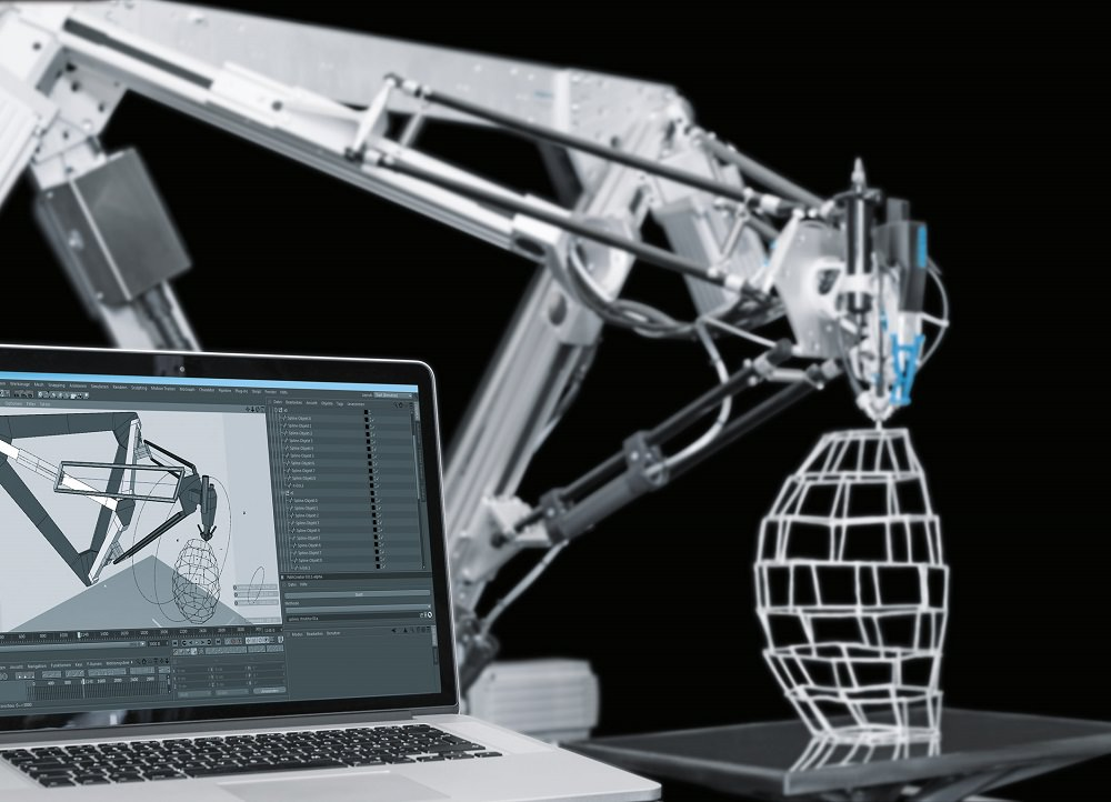 Festo 3D Cocooner: ruimtelijke structuren direct 3D bouwen