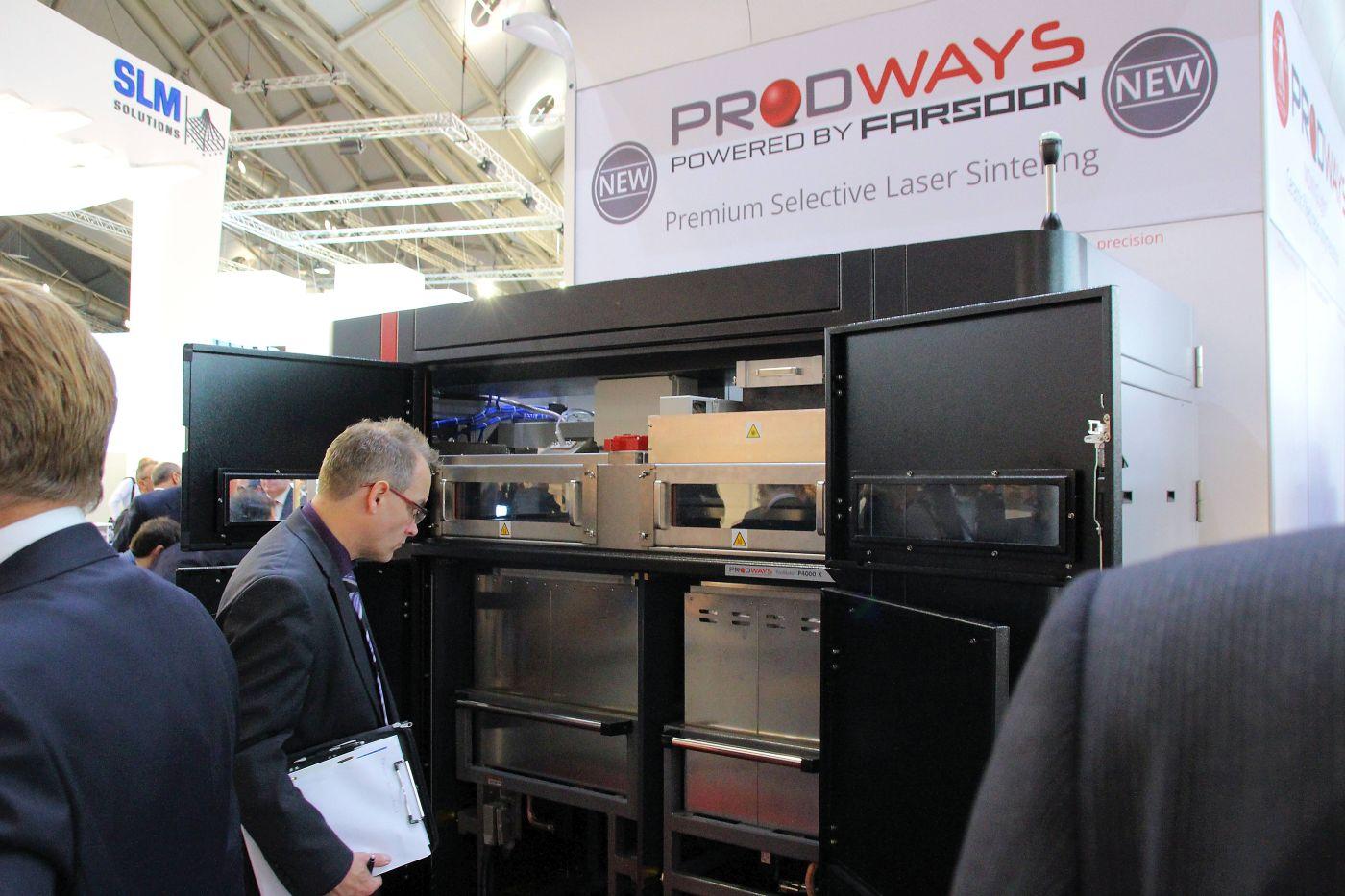 De SLS 3D printer die Prodways samen met Farsoon heeft ontwikkeld.