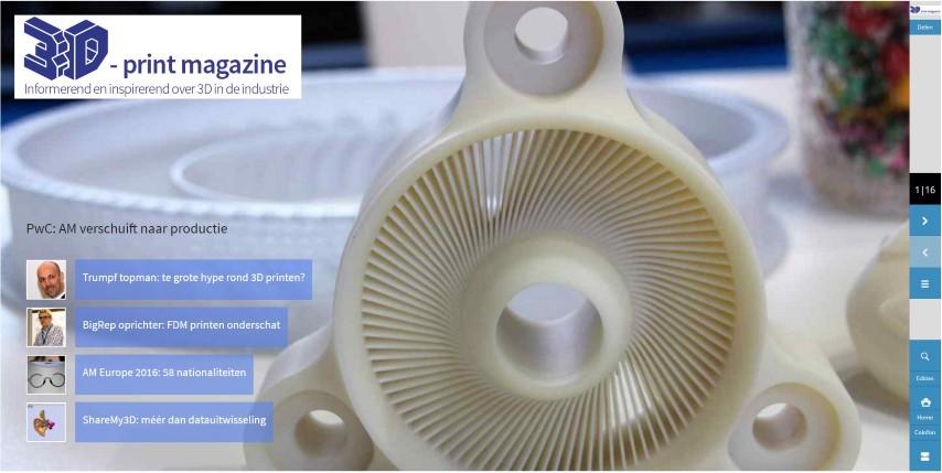 3D Print magazine juli 2016 – digitale editie