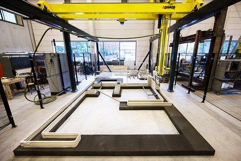 3D betonprinten verandert bouwwerf in high tech productieomgeving