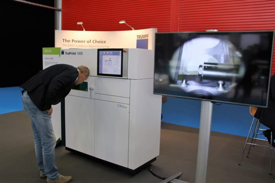 De TruPrint 1000 was onlangs te zien op de beurs in Amsterdam. Tijdens de themamiddag wordt deze gedemonstreerd.