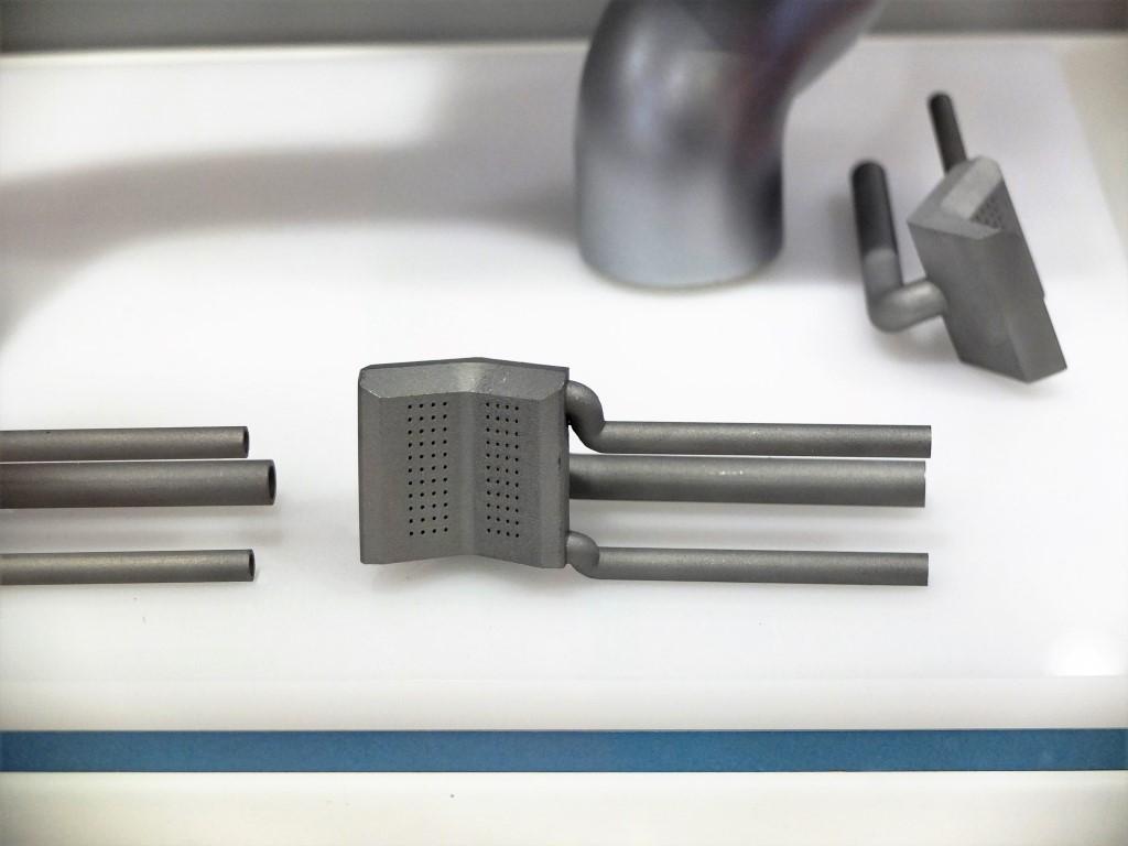 Een real live seriepproductie onderdeel voor een gasbrander, 3D geprint door 3D Systems.