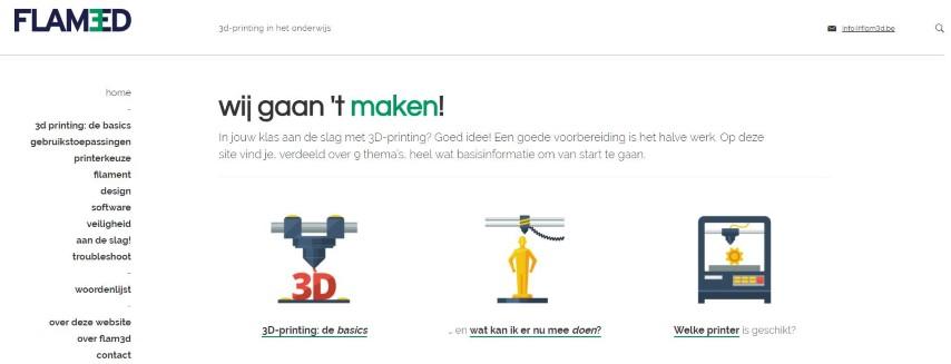 Flam3D lanceert 3D printwebsite voor het onderwijs