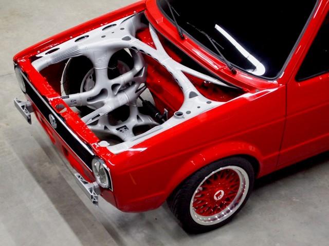 Photo of 3D geprint voorframe VW Caddy voorbeeld functie-integratie
