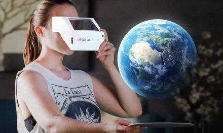 Première Aryzon AR headset – alternatief voor Hololens – op VR Days Europe