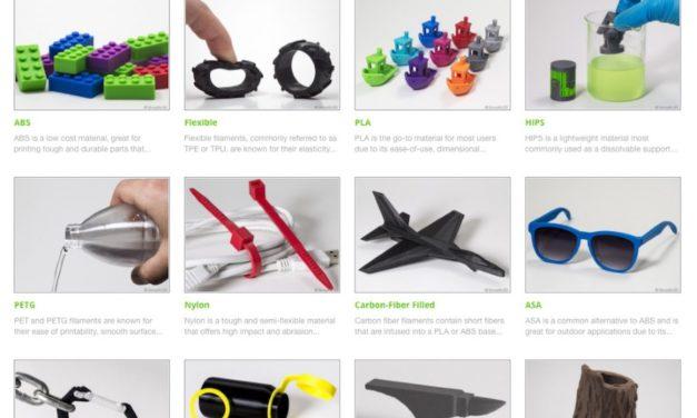 Simplify3D materialengids voor FDM printen