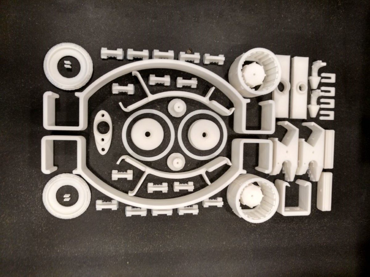 Photo of SDD 3D print in 30 uur 200 machine-onderdelen