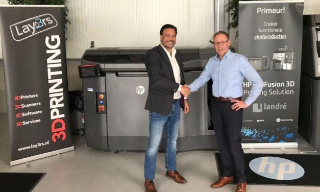 Lay3rs krijgt agentschap voor HP 3D printers in Brainport regio