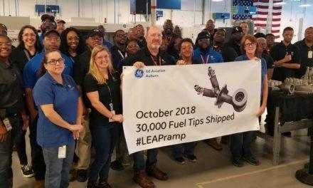 GE print 30.000e nozzle voor LEAP-motor