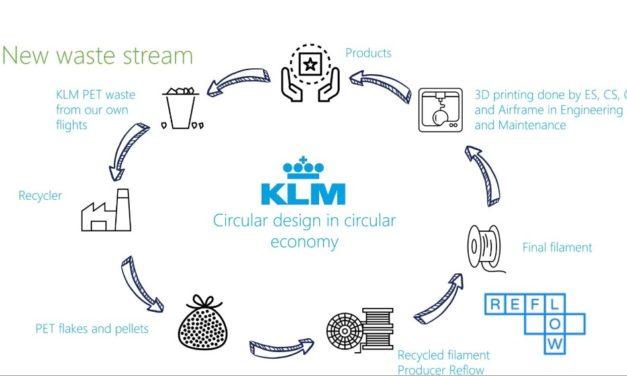 KLM gaat circulair 3D printen