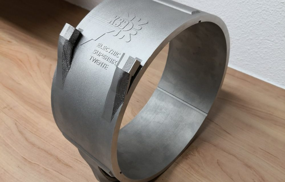 3D geprinte koelschil in Twentse e-superbike
