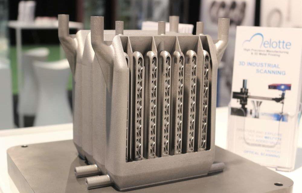 Melotte 3D print titanium microreactor met 9 meter buis