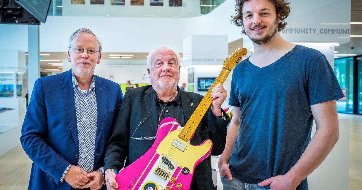 3D geprinte gitaar voor jubileum editie Pinkpop