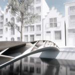 3D geprinte brug van Arnite versterkt met lange vezels