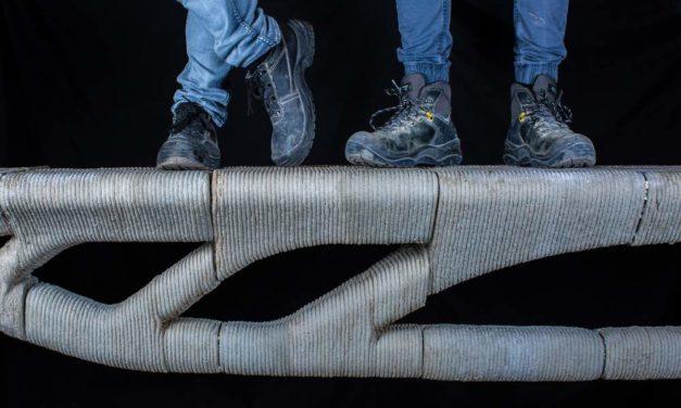 Vertico en UGent 3D printen betonbrug: 60% materiaalbesparing