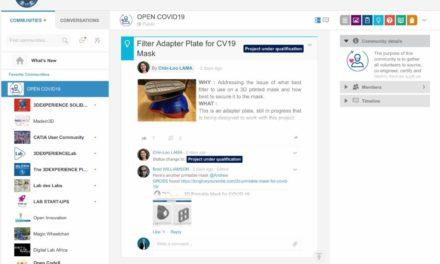 3DExperience Lab bundelt designers, makers en ziekenhuizen in Covid-19 strijd