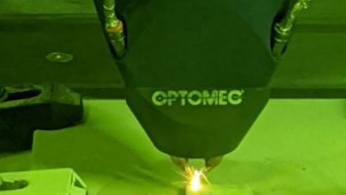 Photo of Optomec 3D print aluminium met DED-technologie