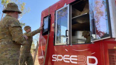 Photo of Australisch leger 3D print metalen onderdelen in het veld