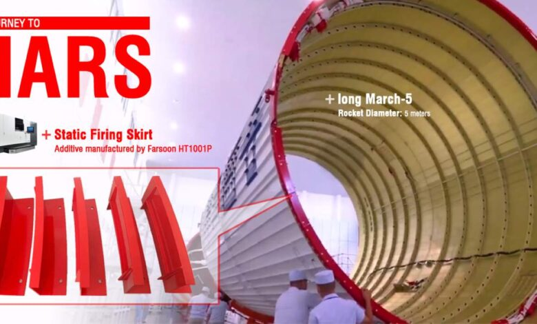 Photo of Farsoon 3D print onderdelen voor Chinese Marsraket