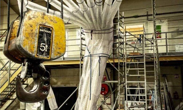 Photo of Loom Light: 6 meter hoog kunstwerk met 450 kilogram geprinte onderdelen