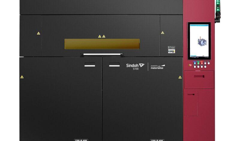 Photo of Sindoh S100 verkleint met Bluesint PA12 het poederafval SLS printen