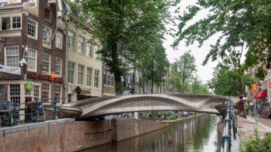 Photo of 3D geprinte 6 ton zware brug voorbeeld groot formaat 3D metaalprinten